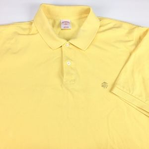 Brooks Brothers 346 Men's Golf Polo Size XL Yellow